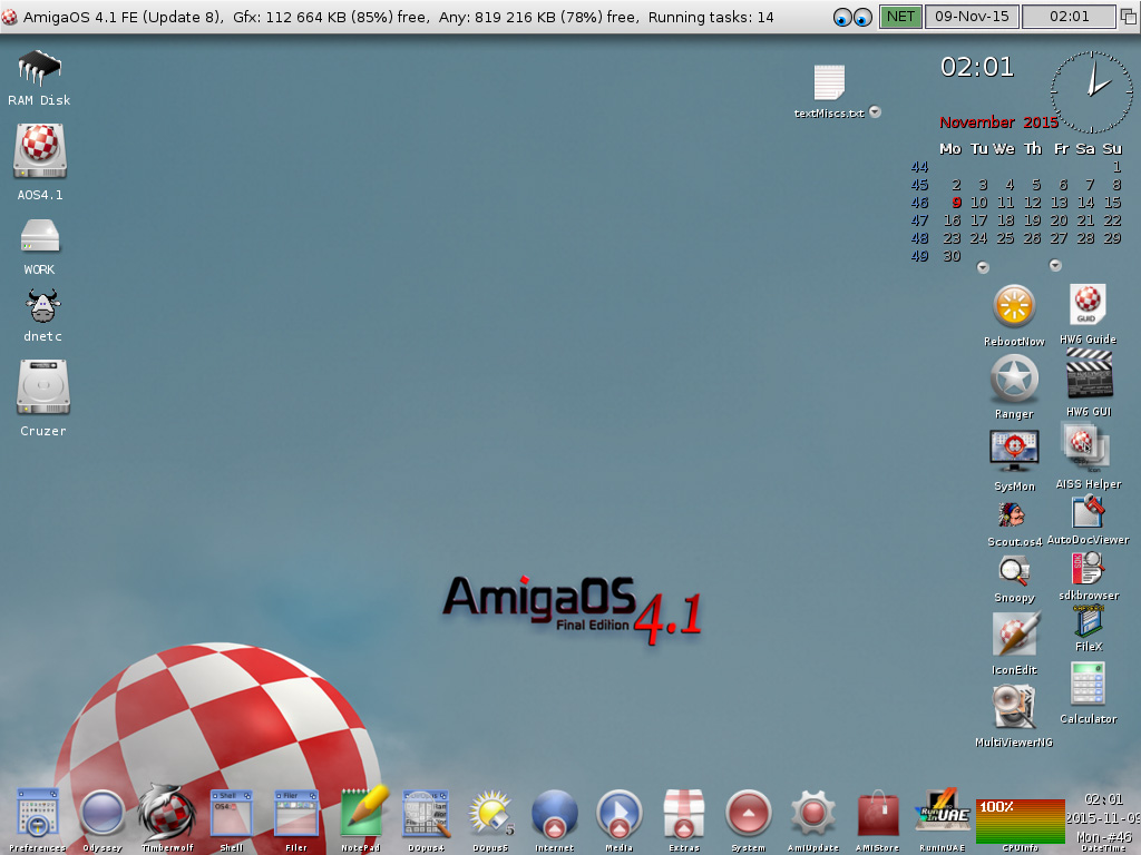 AmigaOS 4.1 FE-Current look of my Workbench