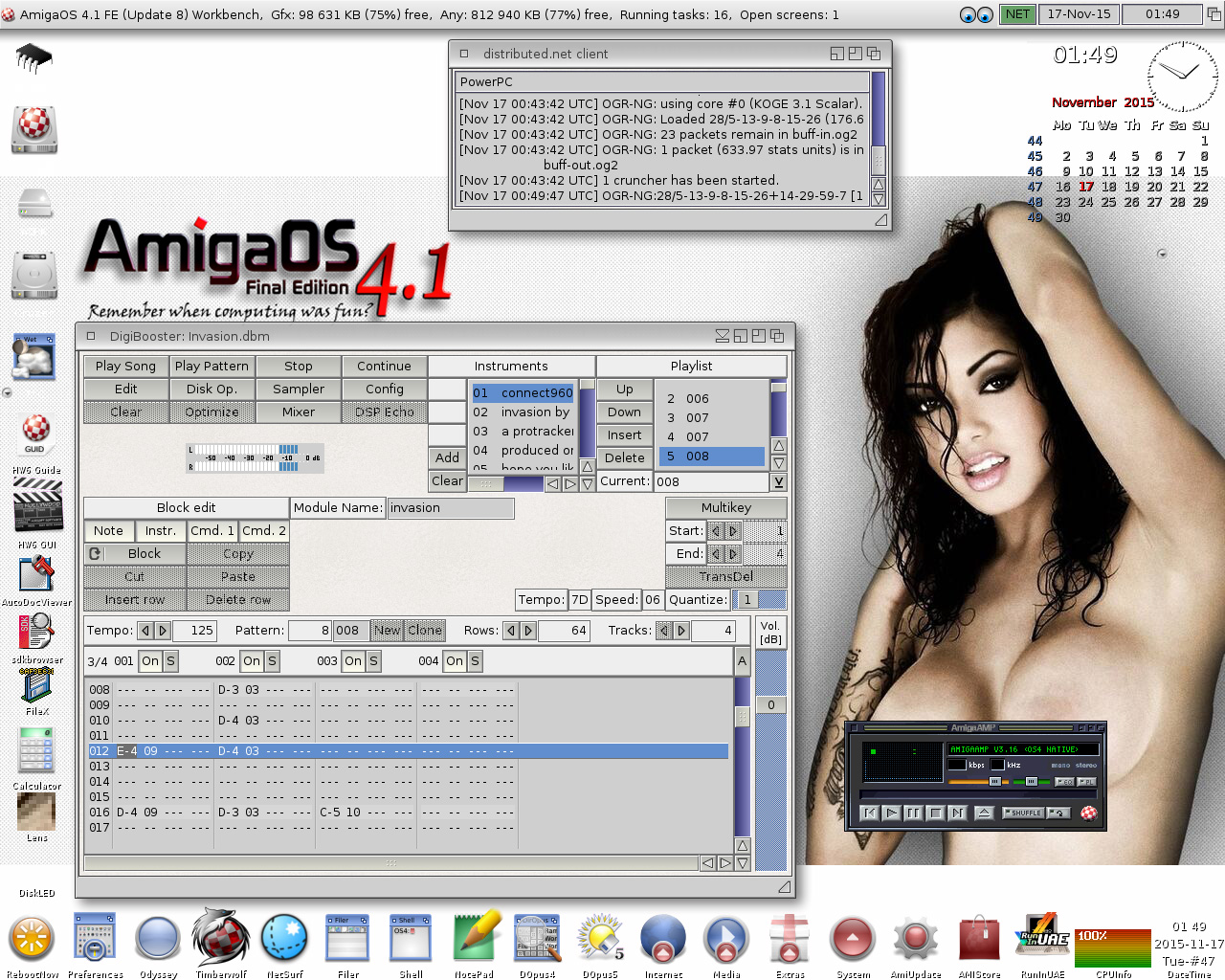 AmigaOS 4.1 FE-DigiBooster playing