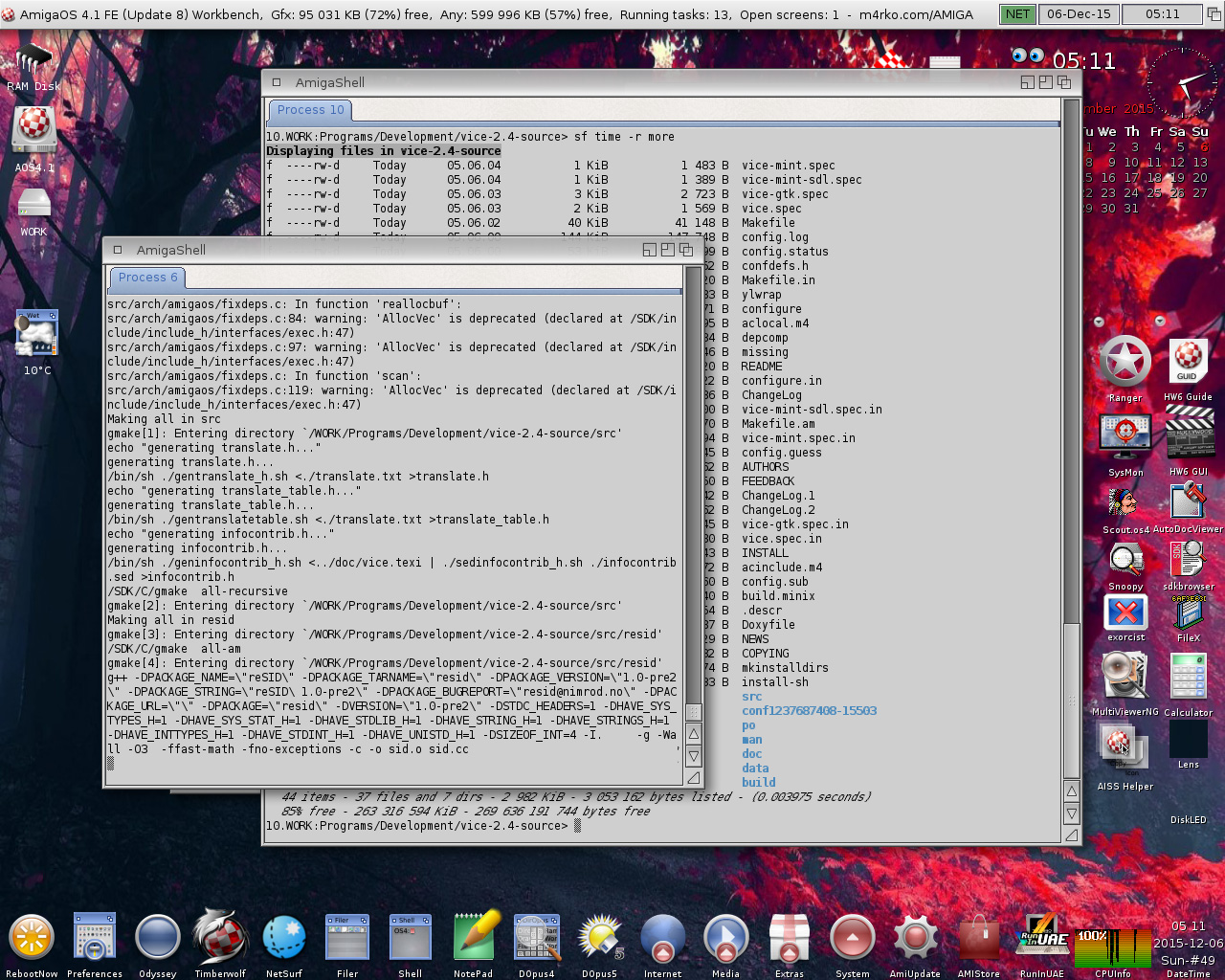Compiling VICE-AmigaOS 4.1 FE-Update 8