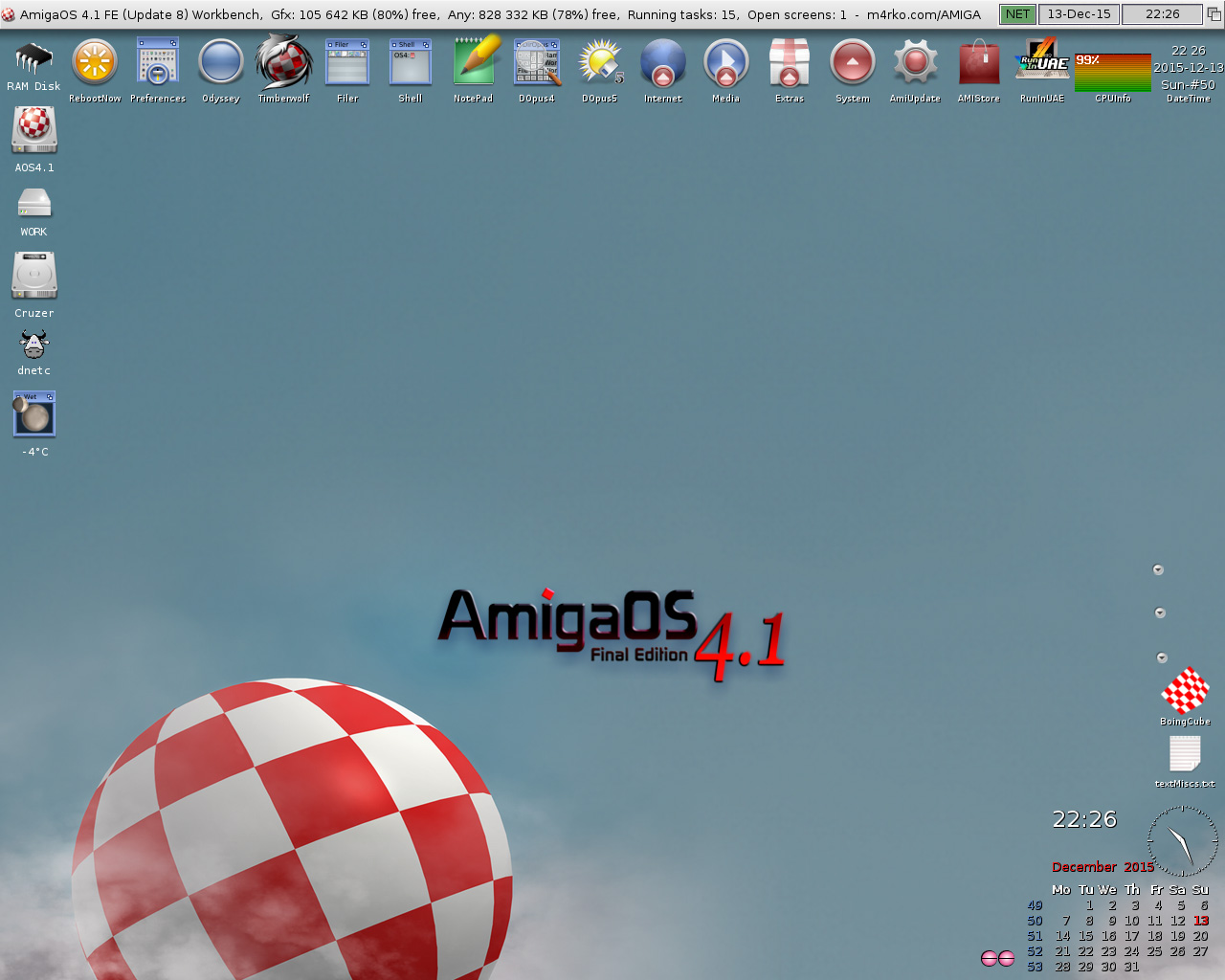 Docky at the top-AmigaOS 4.1 FE-Update 8-Workbench