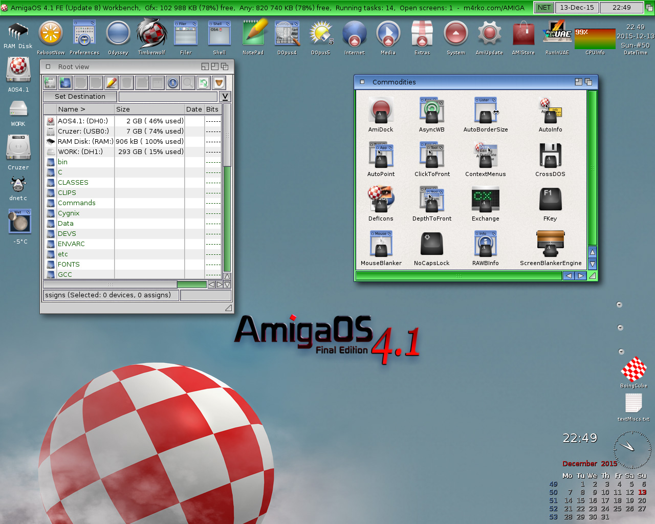 Blue green Workbench-AmigaOS 4.1 FE-Update 8