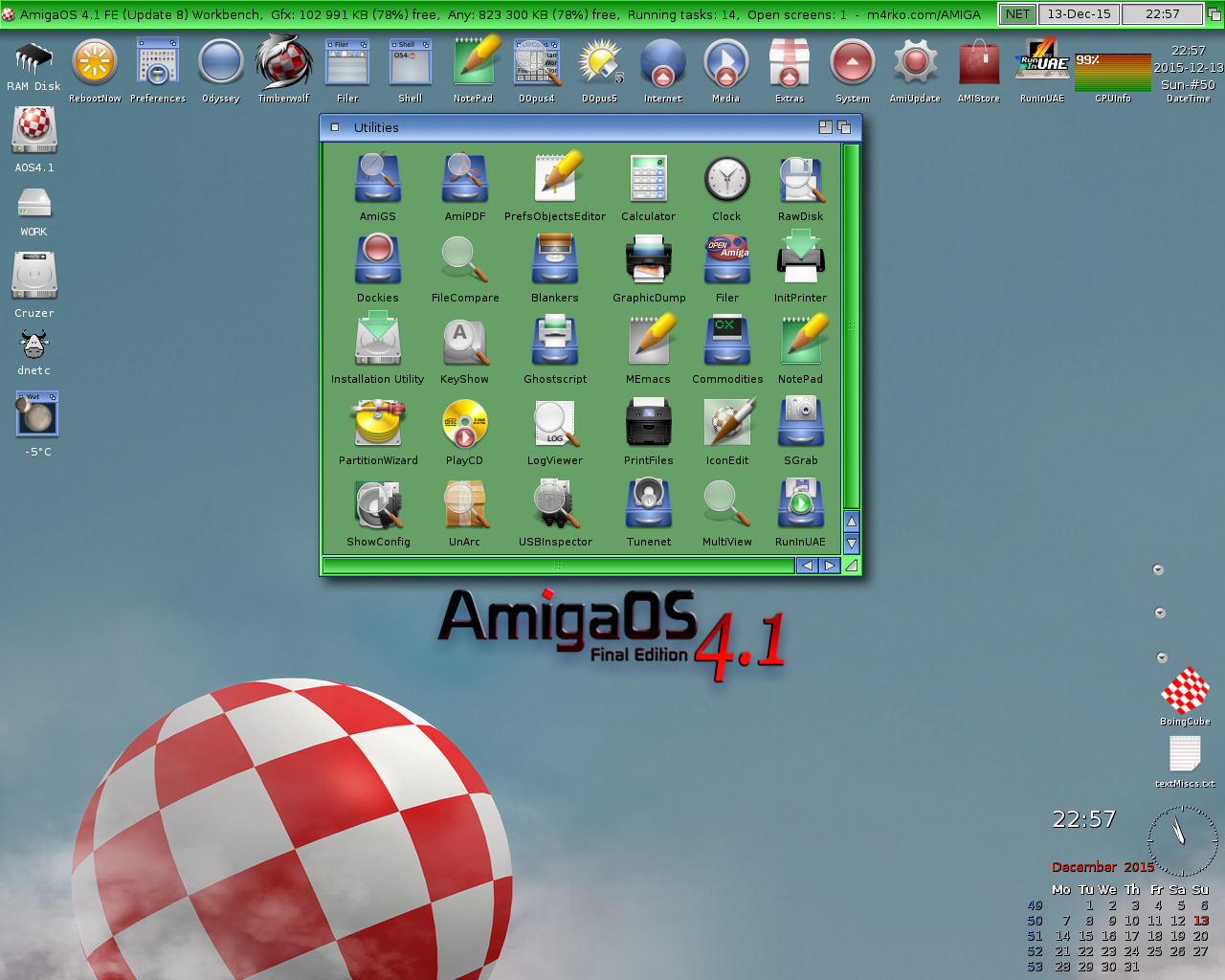 Green blue Workbench-AmigaOS 4.1 FE-Update 8
