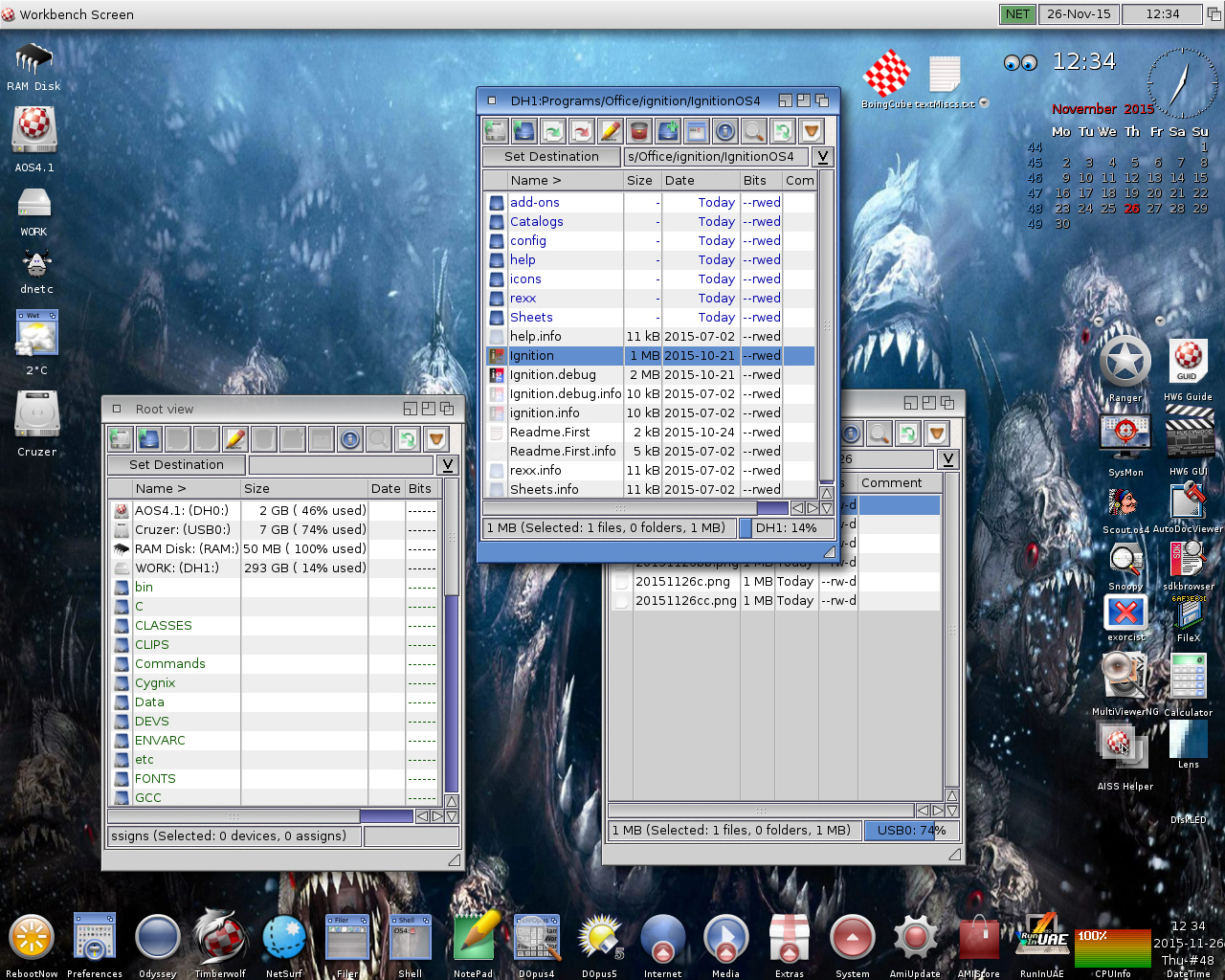 Filer windows-AmigaOS 4.1 FE-Update 8-Workbench-AOS4.1u8