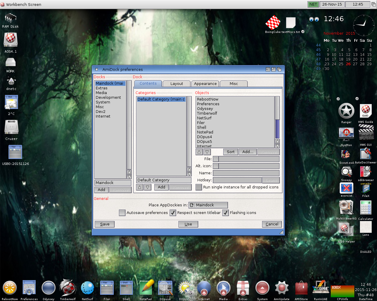 AmiDock preferences-AmigaOS 4.1 FE-Update 8-Workbench-AOS4.1u8
