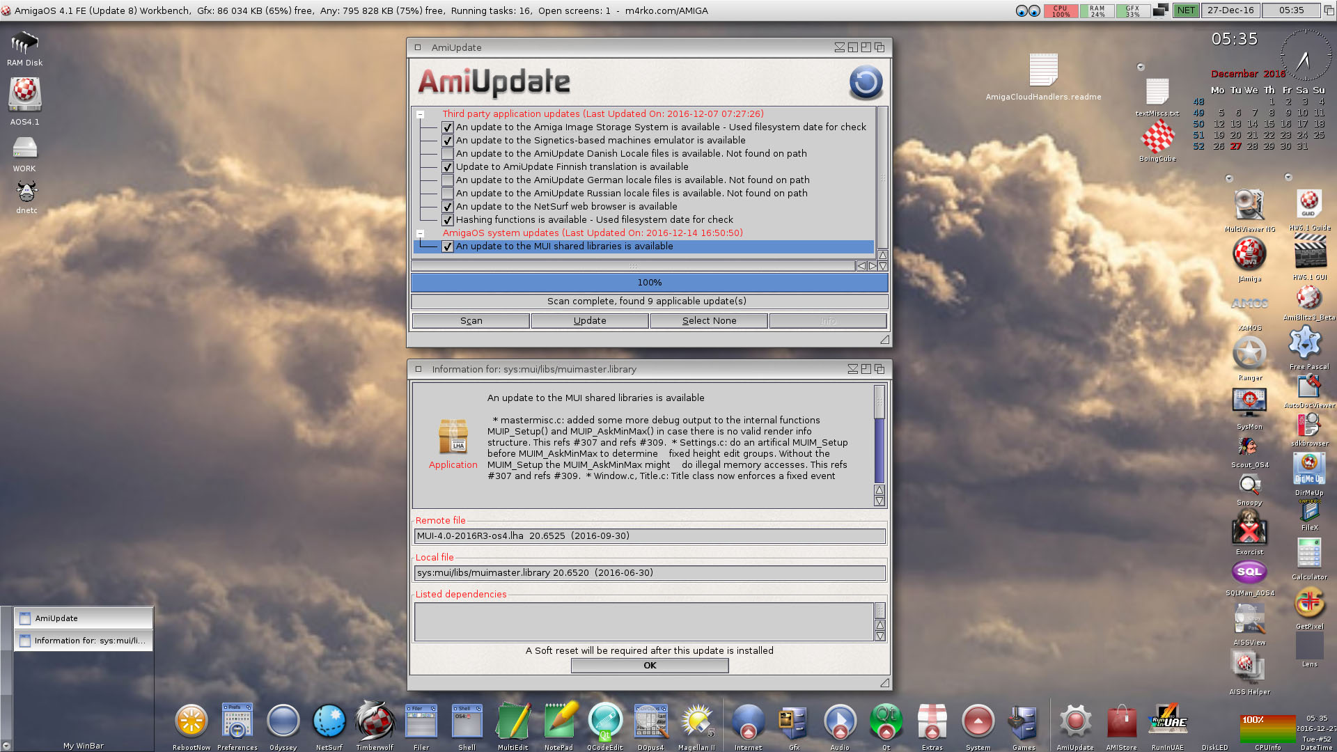 Software updates on AmiUpdate