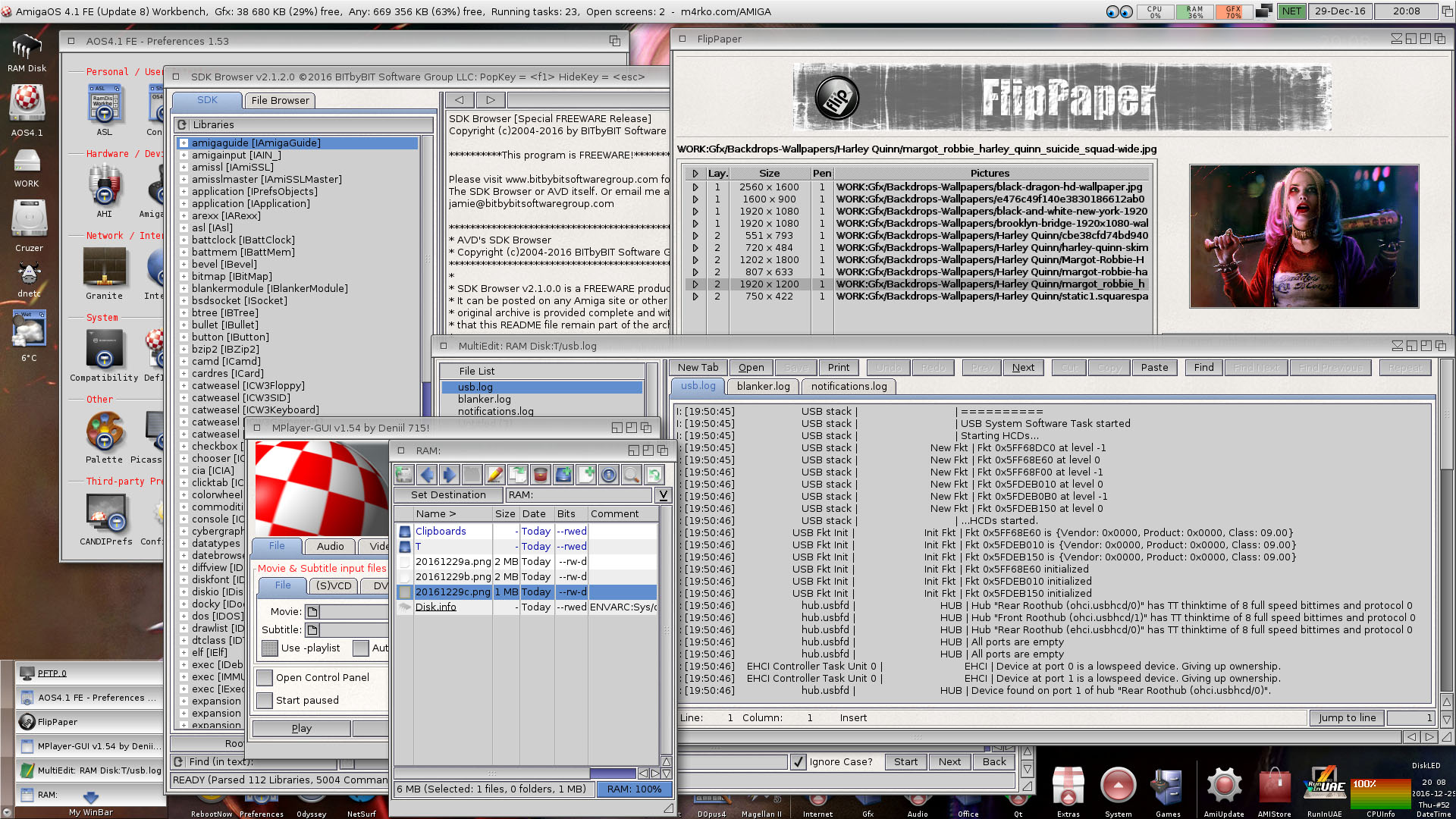 A bunch of apps in AmigaOS 4.1 FE