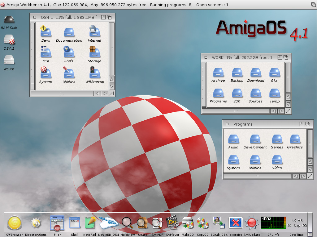 AmigaOS 4.1 Update 1 Workbench-Almost_Default_Look-AOS4.1u1
